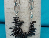 Hematite Spears and Chain Bracelet, One of a KInd