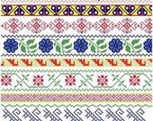 Mexican Folk Borders - Cross Stitch Pattern ** Instant Download PDF