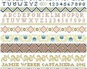 Ornamental Band Sampler Cross Stitch Pattern PDF