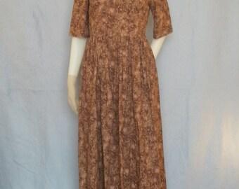 Modest Princess Seam Dress with Full Skirt--- Custom Made