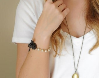 Brass Locket, Locket Necklace, Long Pendant
