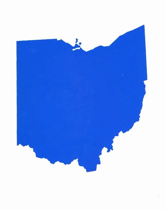 Items Similar To 11 X 14 Ohio State Silhouette