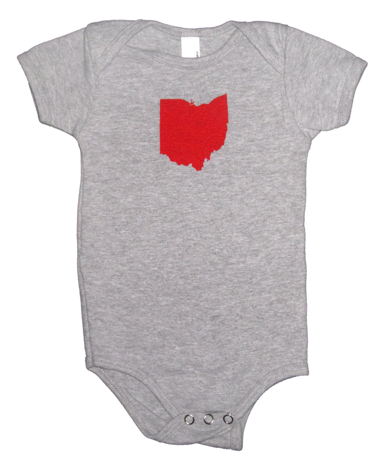 American Apparel Baby Onesies Ohio State On Heather Grey