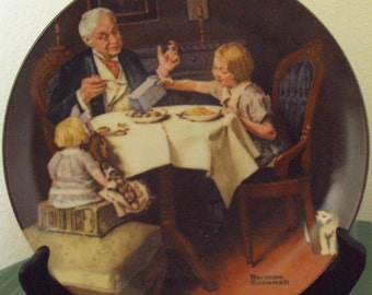 The Gourmet 9th plate in Rockwell Heritage Collection