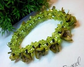 Grassy Green Roses Bracelet and Ring.