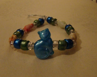 Custom Cat Kandi Bracelet with Fish Beads
