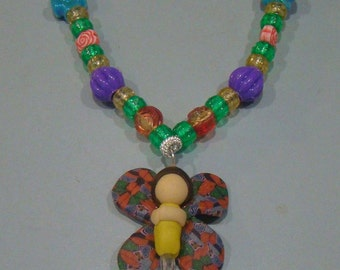 Fairy Kandi Necklace with Flower Beads