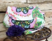 Small Wristlet, Amy Butler, Double Snap Closure