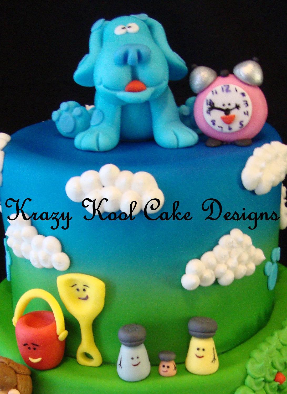 blue u0027s clues cake topper set