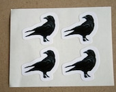 Murder of crows - 4 black crow stickers