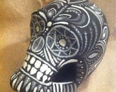 Day of the Dead SKULL - Hand Painted and One Of A Kind