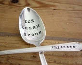 Custom Ice Cream Spoon - Hand Stamped - Vintage Gift - Wedding, Anniversary, Every Day Vintage