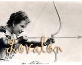 Cupid's Arrow... Vintage Erotic Photo... Digital Download Image by Lovalon