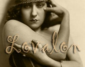 Sultry Girl, Smoky Eyes... Digital Download... Vintage Nude Photo Image by Lovalon