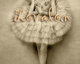 Bashful Ballerina... Instant Digital Download... 1930's Vintage Glamour Image by Lovalon