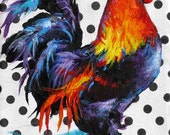 Rooster Painting, Rooster Print, Rooster Art, Colorful Chicken Art from Original 7 x 5 - by Jemma's Gems