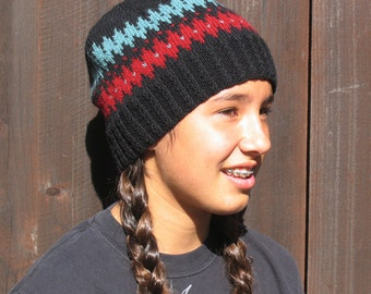 Knit Pattern - Hat, Navajo inspired