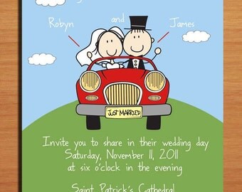 Getaway Car Wedding Invitation PRINTABLE / DIY