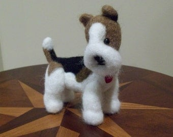 Needle Felted Wire Terrier Dog