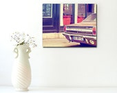 Paris Cafe, Paris Photography, Wood Block, Paris Street Scene, Car Photography