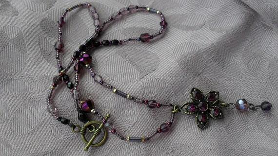 Handmade Purple Posie Necklace