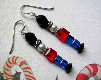 Toy Soldier Earrings, Holiday Earrings, Swarovski Earrings, Christmas Earrings, Nutcracker Earrings, Christmas Jewelry, Holiday Jewelry