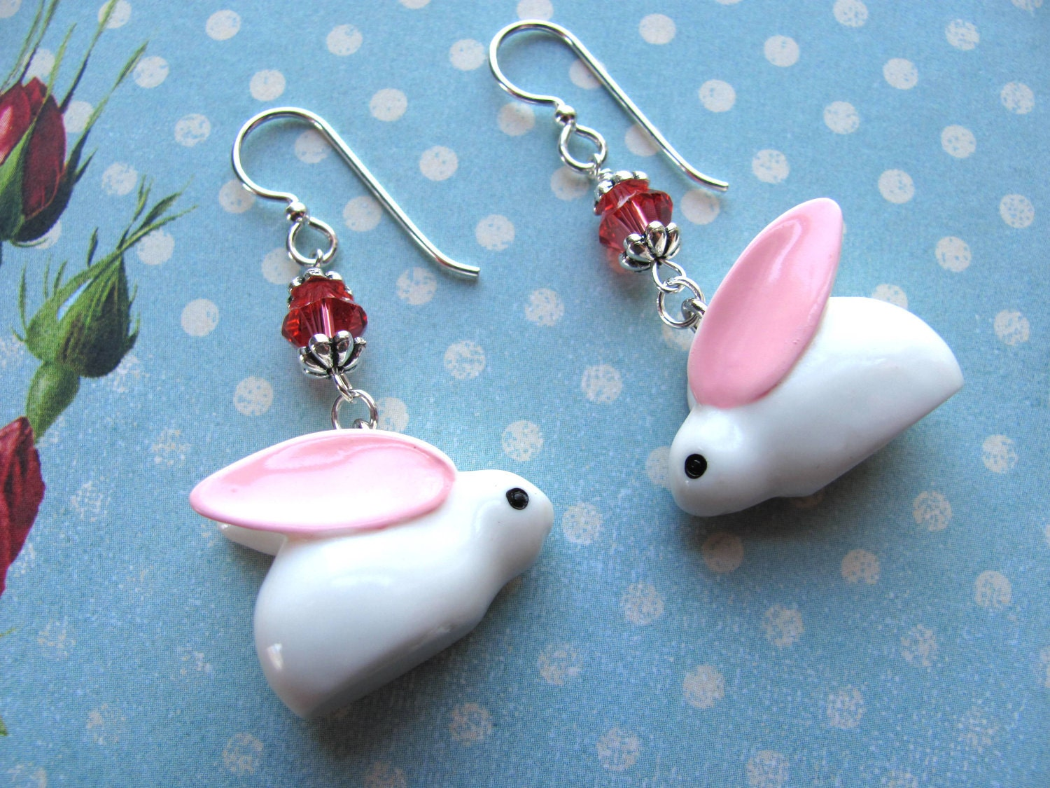 bunny earrings bunny earrings easter earrings earrings swarovski 756