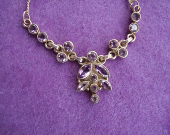Sterling Silver with Amethyst gemstone necklace