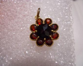 Bohenian Garnet Pendant