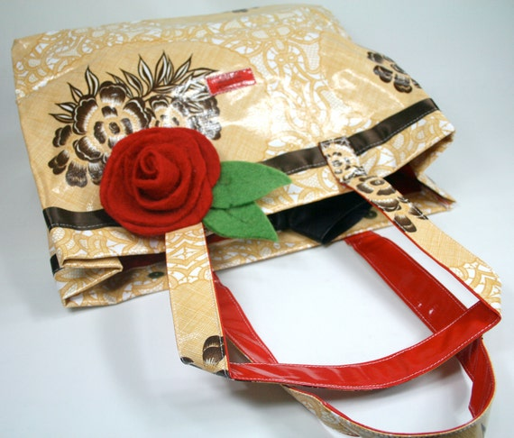 Golden Brown Tilly Totebag by Dos Chicas