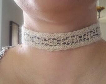 PATTERN: Diamond Lace Choker with Ribbon