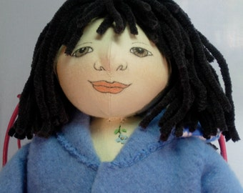 Violet - Cloth art doll from the Little House Guest Collection