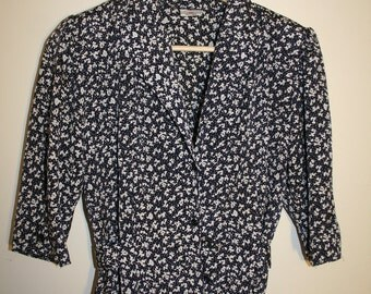 1980's Button Up Blouse