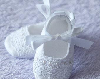 "AK DESIGNS ""Elegant Baby Shoes"" - Little Adeline."