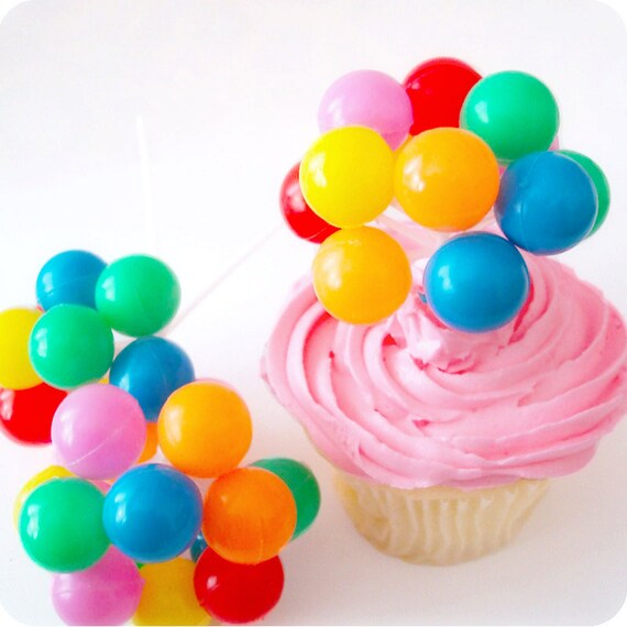 12 Party Balloon Cupcake Picks