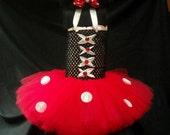 Minnie Mouse Tutu in Red