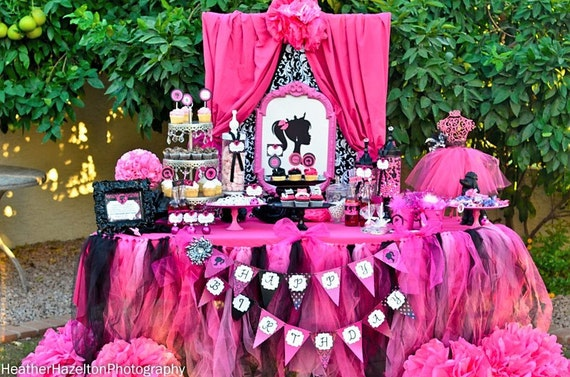 PARTY - Barbie Birthday Party - Barbie Printables- Glamour Party ...