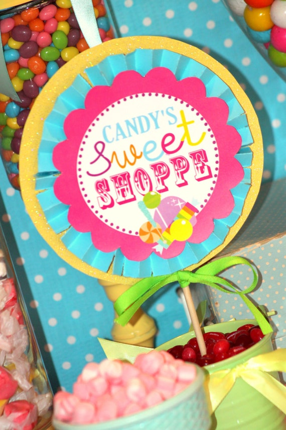 BUBBLE GUM CIRCLES -  Candyland / Lalaloopsy Party / Candy Land/ Sweet Shop Party/ Lollipop/ Sweet shoppe/ Girl Birthday  - Krown Kreations