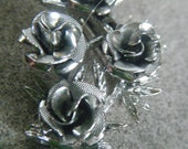 Coro Silver Roses Brooch