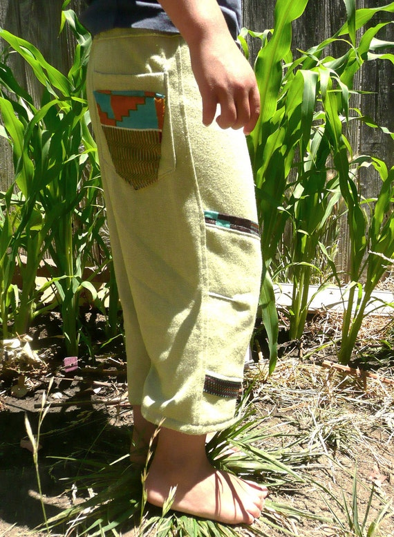 Organic Cotton with Kente Print Pants,  Toddler Pants, Play Clothes, Eco-friendly Kids Pants