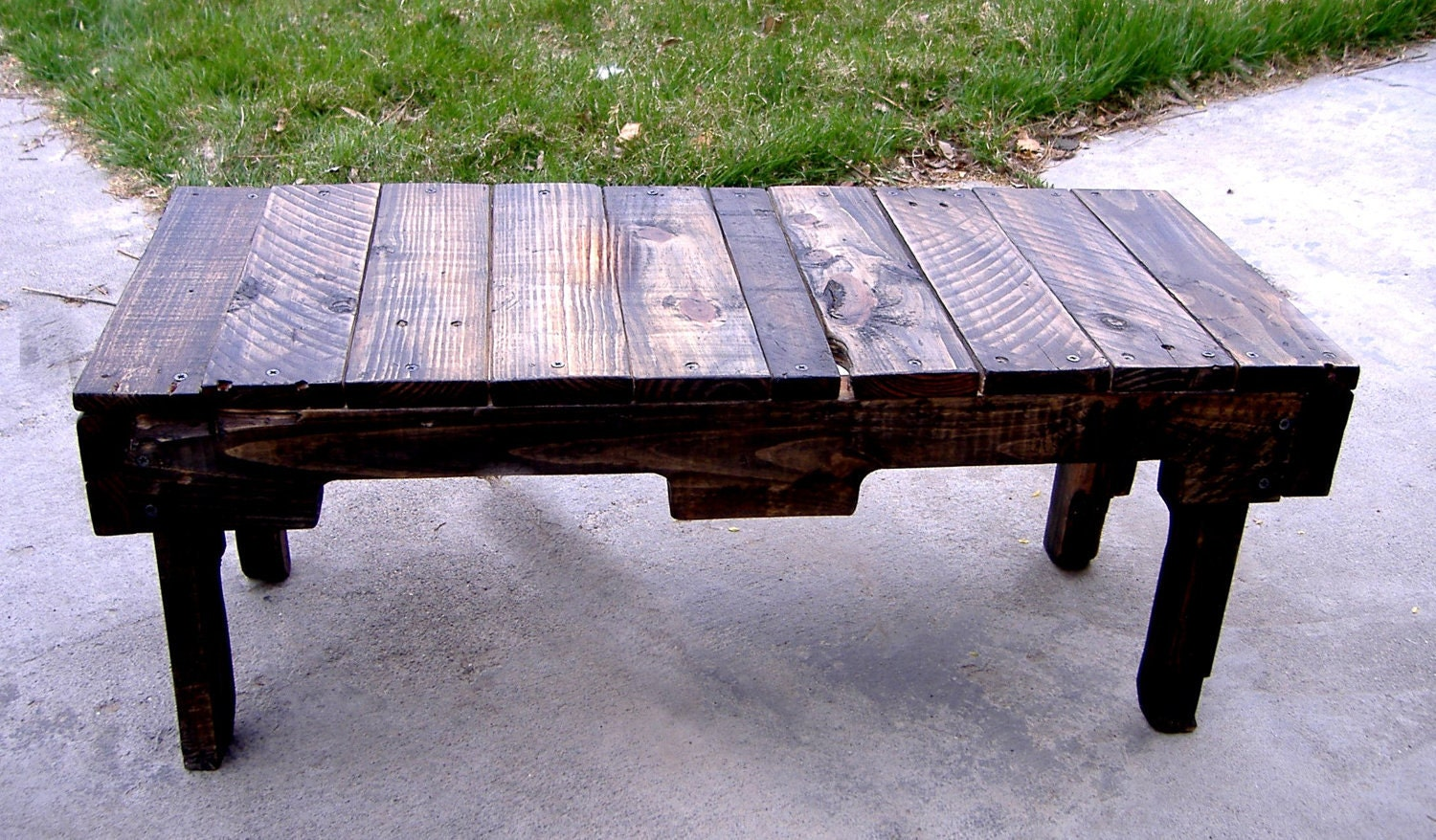 Foyer Boot Bench : Handmade repurposed pallet wood entryway boot bench or coffee