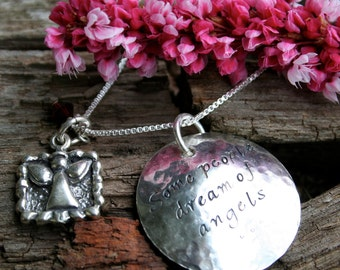 Baby Memorial Jewelry - Some People Dream of Angels - for Baby Loss