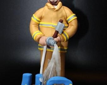 Firefighter Cake Topper 40th Birthday