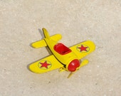 Mickey Mouse Plane /  Disney / Vintage Toy / Yellow Red / Collectible