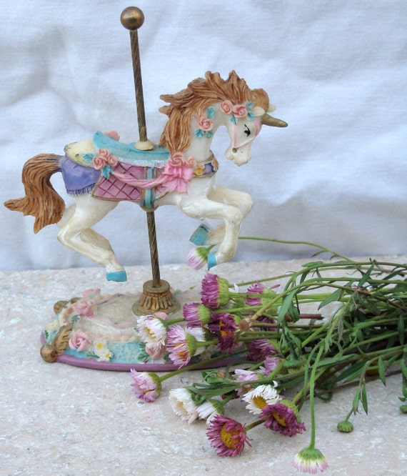 RESERVED FOR JENNIE / Unicorn / Horse / Carousel / Merry go 'Round / Child / Vintage