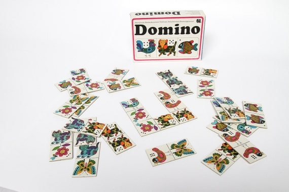 Cool retro domino set by Jumbo, great condition, verrry retro