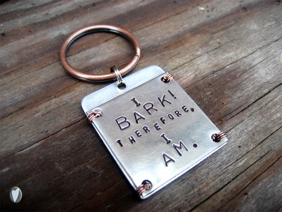 Nickel Silver Personalized Pet Id Tag - Copper Wire Wrap - Aluminum Contact Backer