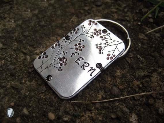 Aluminum Personalized Pet Id Tag - Hand Stamped - Wire Wrap - Unique Pet Tag - Aluminum Backer