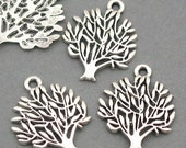 Tree Charms Antique Silver 8pcs pendant beads 16X20mm CM0018S