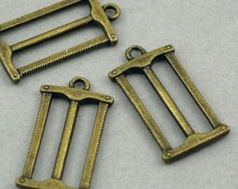 Saw Charms Antique Bronze 6pcs pendant beads 15X27mm CM0134B